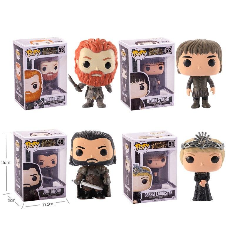 Juego de Tronos Pop Jon Snow serie Baratheon Dragón Negro Juguete de PVC del modelo