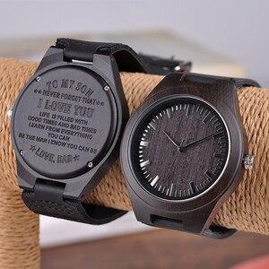 Image 4 - BOBO BIRD montres bracelet à gravure, pour hommes, cadeaux de famille pour fils papa maman, hommes et femmes, avec un logo gravé pour petit ami, D26
