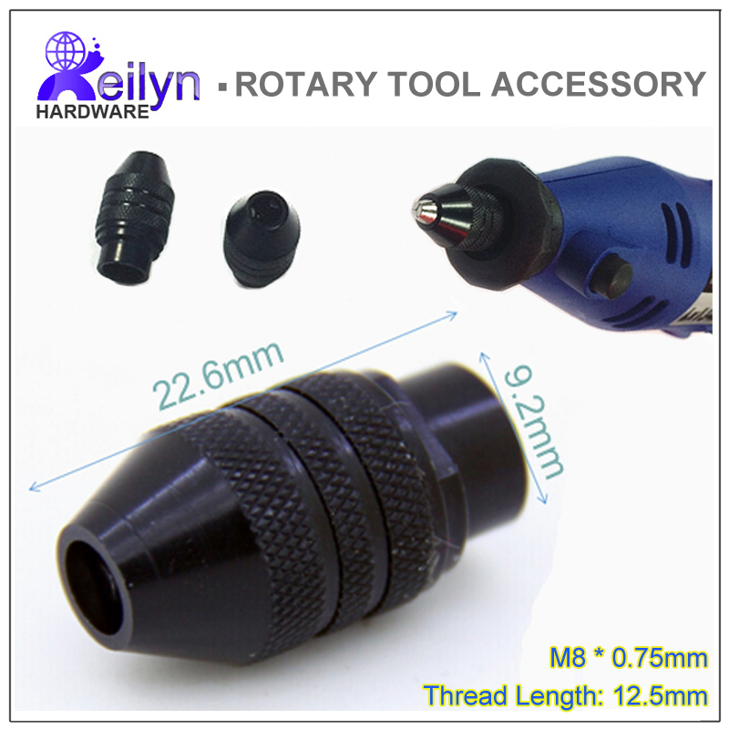1 pc universal chuck M8x0.75mm collet chuck 0.3-3.2mm clamping size adjustable for  MINI grinder dremel rotary tools 660v ui 10a ith 8 terminals rotary cam universal changeover combination switch