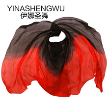 Belly Dance Props Women Silk Veils Veil For Girls black+red
