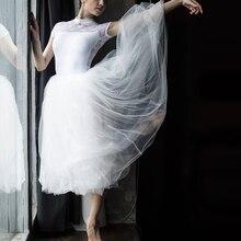 Chuyên Nghiệp Người Lớn Ballerina Ba Lê Tutus Trắng Đen Đỏ Hồng Lưới Dài Váy Xòe Lưng Thun Voan Váy Nữ Bóng Váy