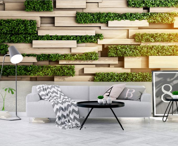 Us 11 18 57 Off Customize Japanese Style Wallpaper Green Plants Photo Wallpaper 3d Living Room Bedroom Tv Backdrop 3d Wallpaper Walls In Wallpapers