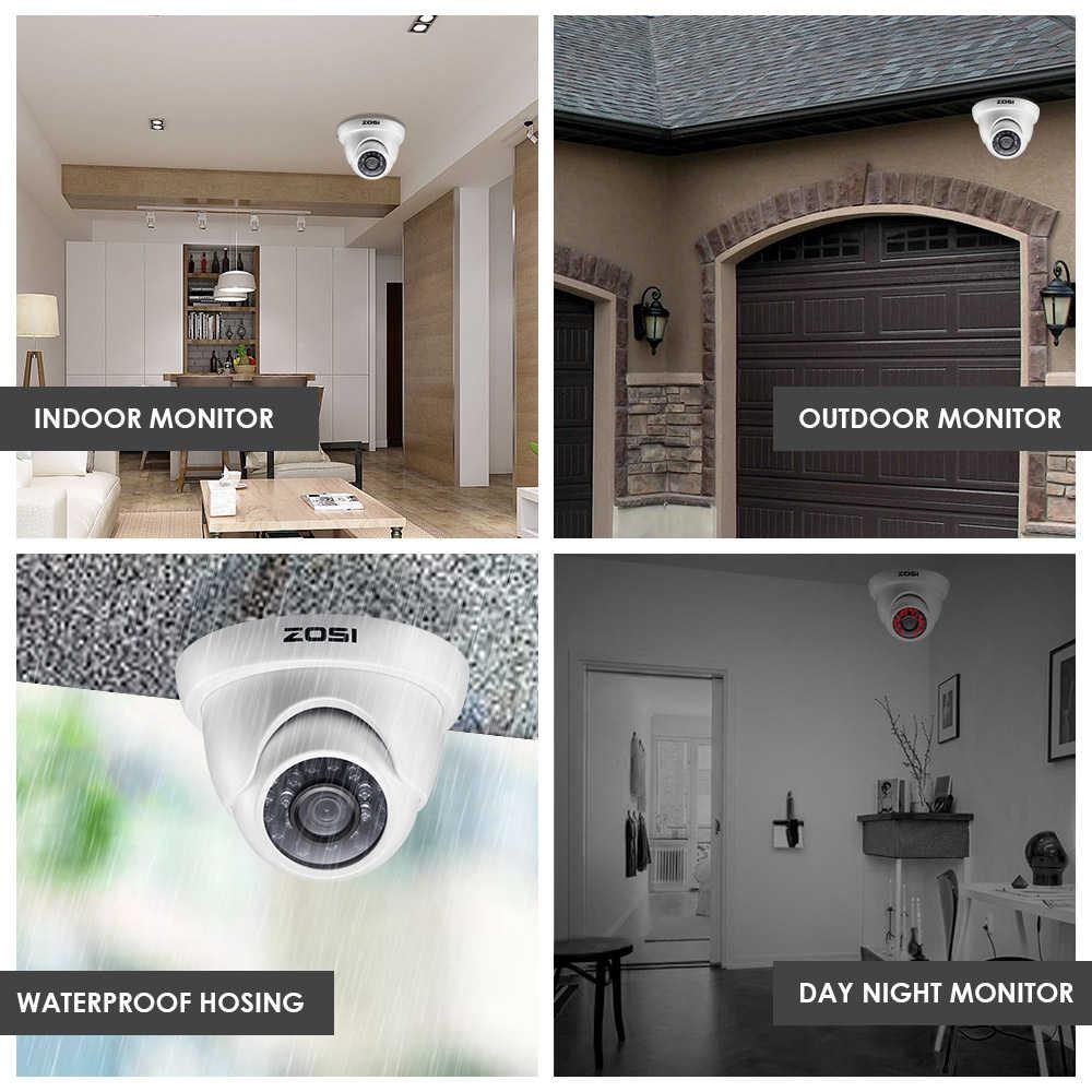 ZOSI CCTV системы 1080 P Full HD 4CH DVR 4 шт. 2.0MP 2000TVL Пуля безопасности камера 24 ИК светодиодный открытый дом наблюдения