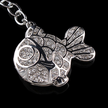 YueBanG jewelry,F S in most areas,goldfish key chain,Full drill,factory direct sale, ready to accept orders.Animal key chain.