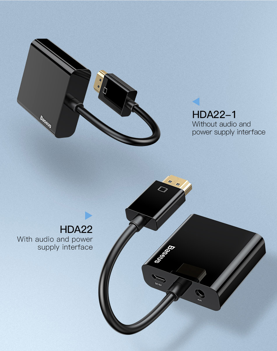 HTB1bi54A4uTBuNkHFNRq6A9qpXau Baseus HDMI to VGA Cable HDMI VGA Adapter Digital HDMI to VGA Jack 3.5 mm Converter Video Aux Audio Splitter For Laptop PS4 TV