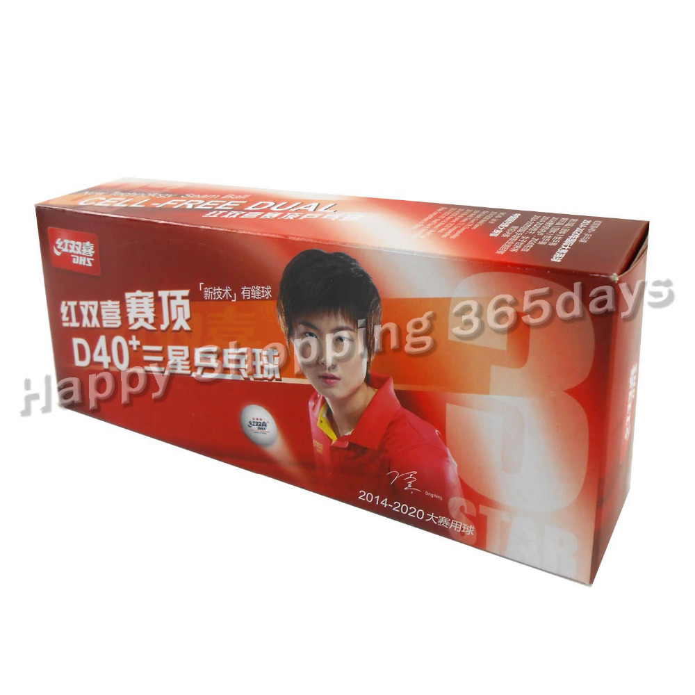 x DHS D  Star White Table Tennis Ping Pong Balls