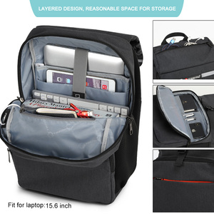 "Image 2 - Tigernu mochila para ordenador portátil de 15,6 ""para hombre, morral para ordenador portátil, con diseño de carga USB reflectante, antirrobo, resistente al agua"