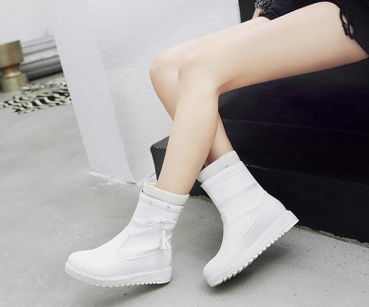 120ecc8bfe0a8 Bottes Chaussons Sapato Haute Xz181221 Occasionnels Black Zapatos Femmes  Plate Feminino Chaussures white Mujer forme Femme ...
