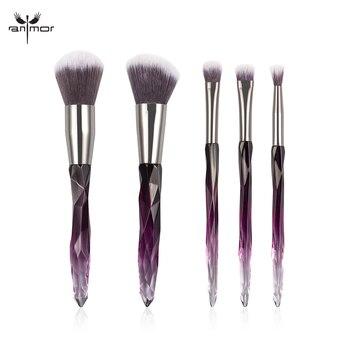 aa1f7b6d5 12 piezas pinceles de maquillaje conjunto de madera de la manija de la  Fundación cosmética de la ceja de sombra de ojos cepillo del maquillaje  herramientas ...