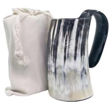 100% Natural Hand Made Ox Buffalo Horn Mug Viking Drinking Mugs Beer Drinking Horn Mug - Category 🛒 Home & Garden