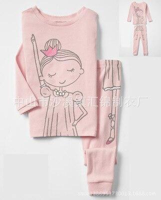 Детские пижамные комплекты одежда для сна для мальчиков От 2 до 7 лет Пижамный костюм для девочек Детская Пижама, футболка + штаны комплект одежды для маленьких девочек и мальчиков