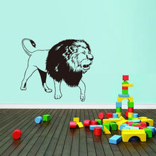 Removable Animal Roaring Lion Vinyl Wall Decal Home Decor Living Room Walking Leo Art Sticker Bedroom Mural W-101
