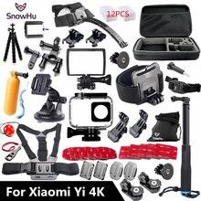 SnowHu For Xiaomi Yi 4K Accessories Monopod Stick Octopus Tripod For Xiaomi Yi 4K Yi2 Action International Camera 2 II  GS27