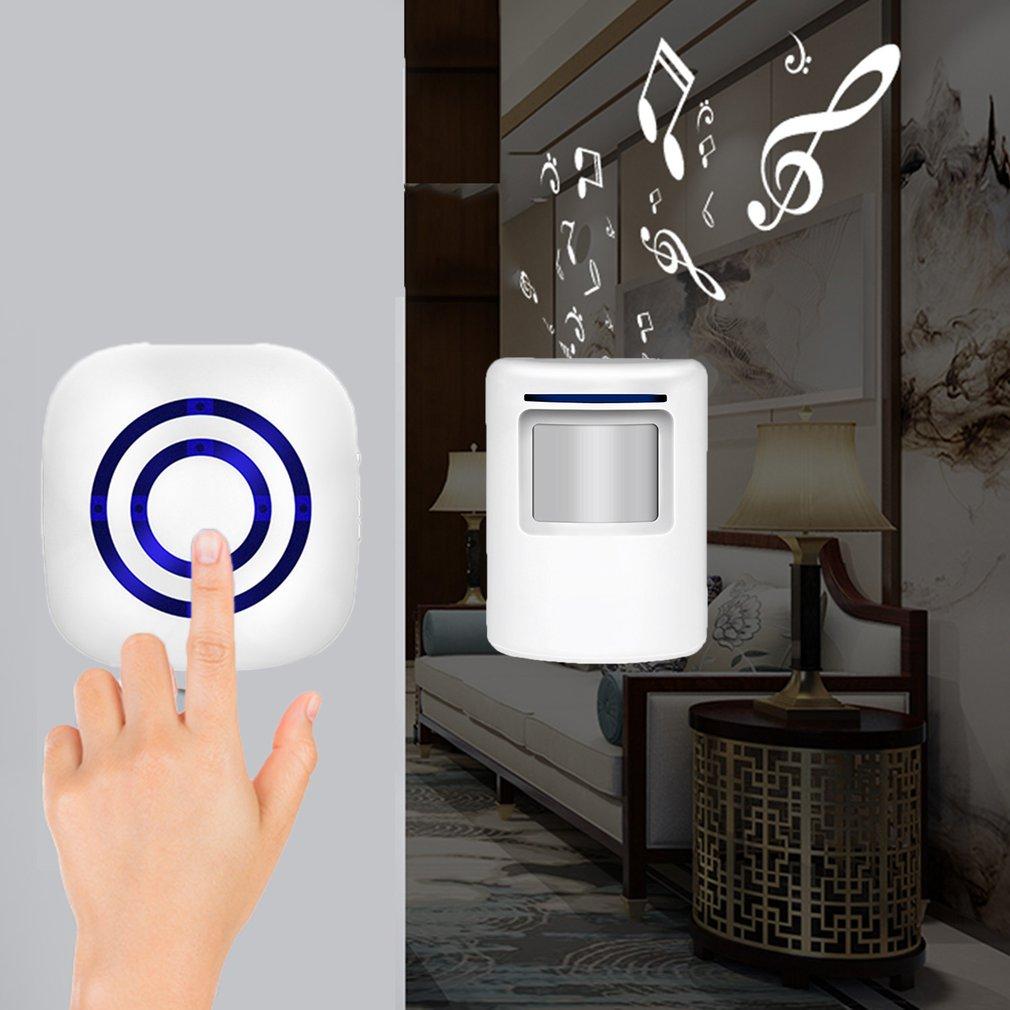 0256 Waterproof Wireless Digital Doorbell with Sensor Infrared Detector in Doorbell from Security Protection