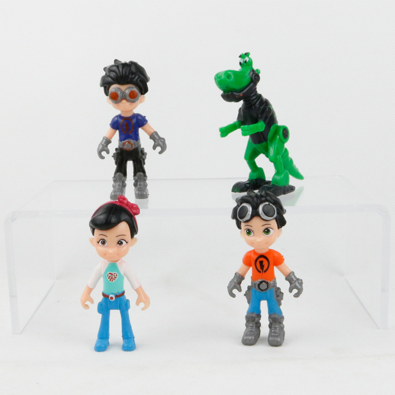 Russia 4pcs/Lot 9.5cm Characters Action Figure freddy Toys Rusty Rivets Cartoon Model Toys Childrens Day Gift for Childrens