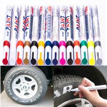 12 COLOR Permanent Drawing Car Tire Rubber Metal Paint Highlighter Design Waterproof Marker Pens cheap Art Marker Loose SP110 Single Sipa