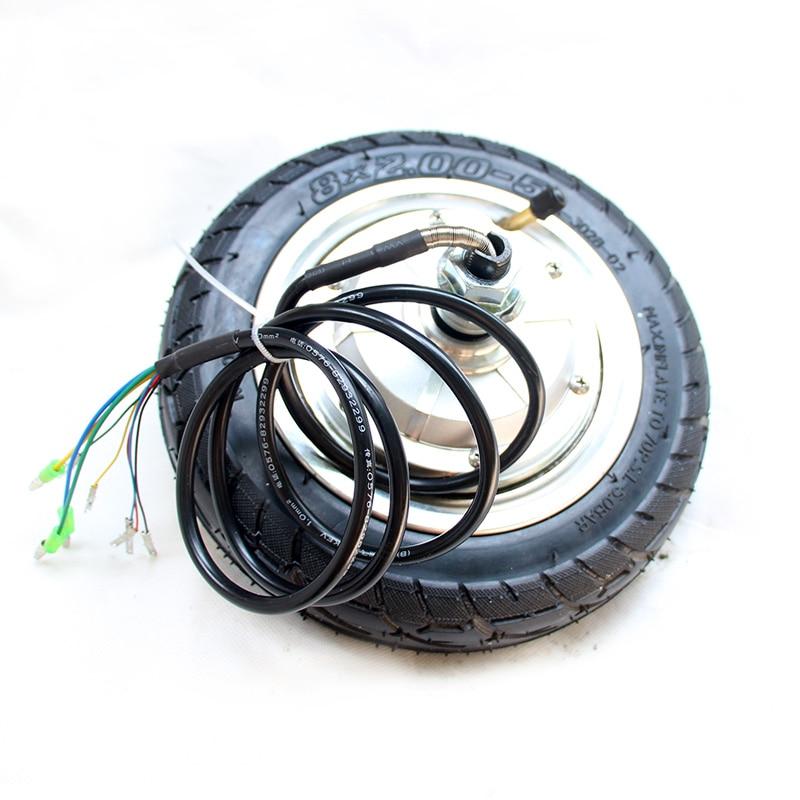 1pc 8inch Electric Skateboard Motor Wheels 36V Long Board Wheels Unilateral Motor Bilateral Motor