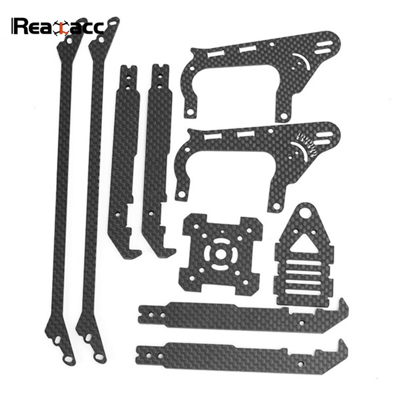 Original Realacc Real1S FPV Racing RC Quadcopter Frame Kit Spare Parts Carbon Fiber Parts Top/Bottom/Side Plate Fixing Board realacc kt100 100mm carbon fiber frame kit for rc quadcopter multirotor fpv camera drone x type frame accessories purple