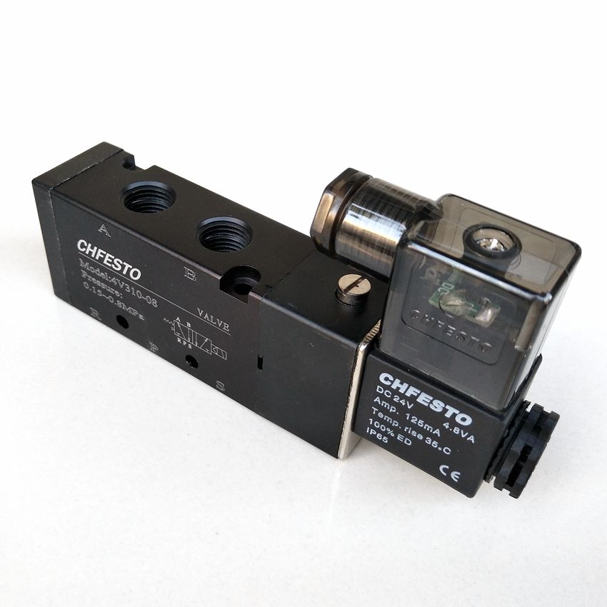 4v310 08 Dc24v Pneumatic Solenoid Valve 1 4 5 2 Way