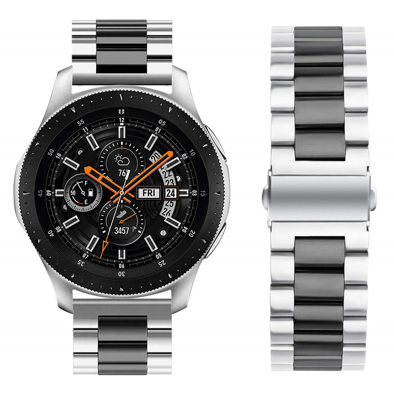 Stainless Steel Bracelet Band For Galaxy Watch 46mm Galaxy Gear S3 Classic/Frontier 22mm Width Metal Replacement Wrist Strap