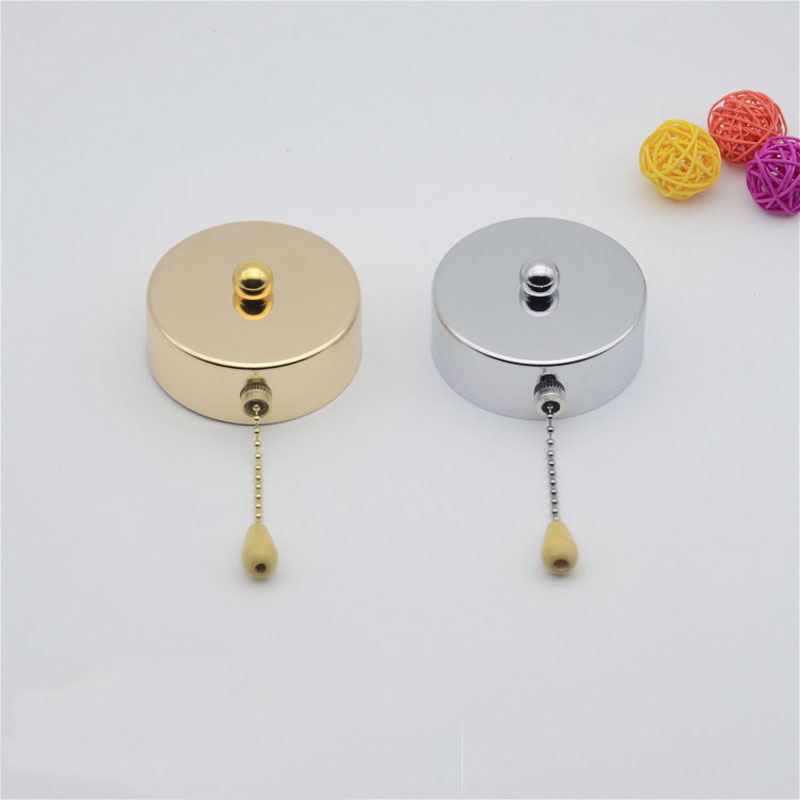 Pull Rope Switch wall zipper pull switches DIY Lamps and lanterns lighting fittings 5pcs
