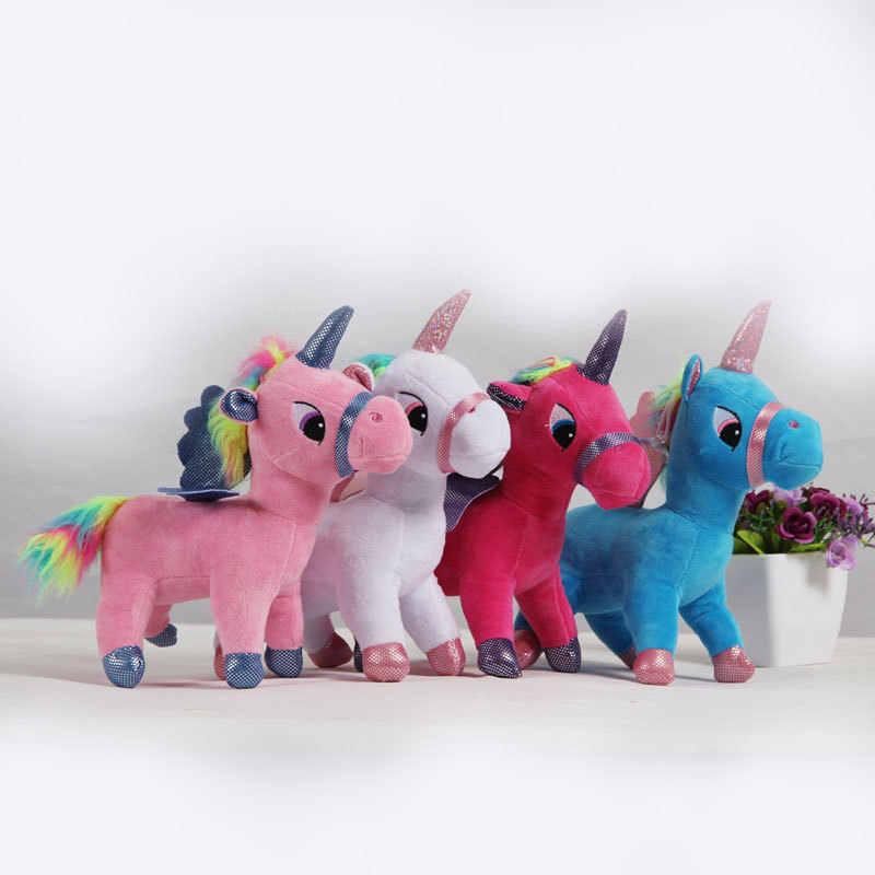 20 см прекрасный единорог плюшевые игрушки животные детские куклы милый