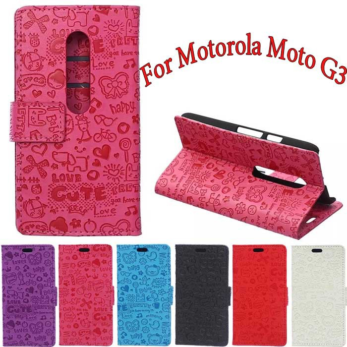 low priced b8daf 0812d US $6.69 |For Motorola Moto G3 Case Fashion Small Hag Leather Wallet Flip  Stand Cover for fundas Motorola Moto G 3rd Gen Cell Phone Cases on ...