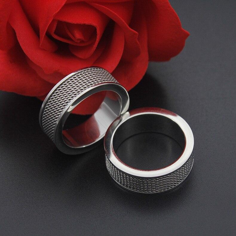 Винтажная открытая Серебряная кольцо из нержавеющей стали 316L цепочка в стиле панк-рок мужская бижутерия для мужчин обручальное кольцо для мужчин кольцо для влюбленных