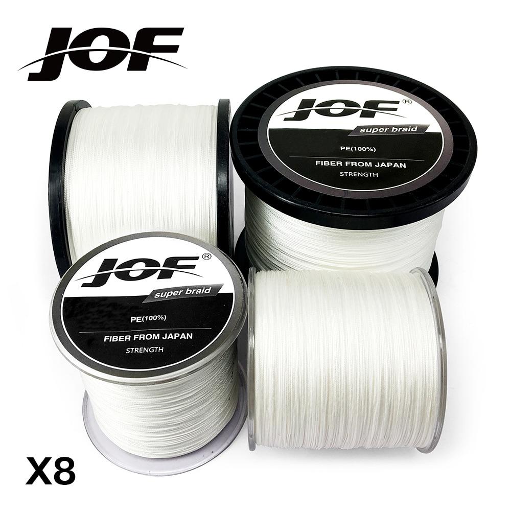8 Vertentes 300 M 500 M 1000 M Branco PE Braid Linha de Pesca Weave JOF Superior Extrema Strong 100% Superpotência
