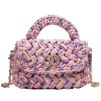New Bag Large Clamshell Hand Woven Casual Female Beach Bag Knitted Messenger Bags