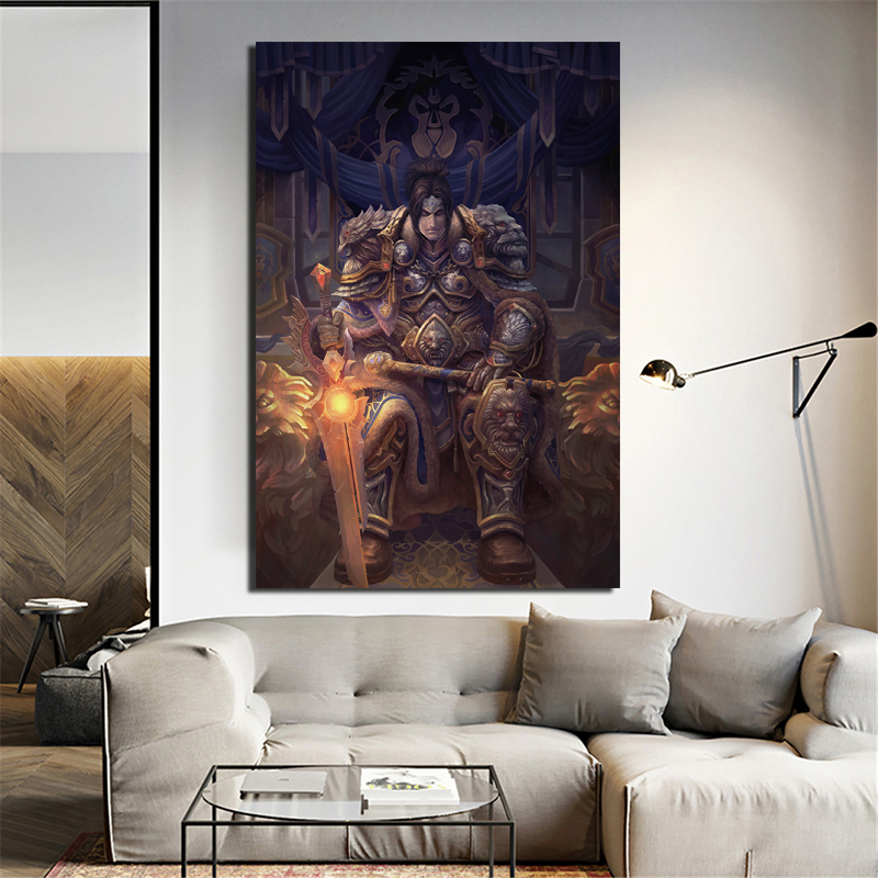 World Of Warcrafts Meditation Wall Art Canvas Painting Poster Prints Modern Painting Wall Picture For Living Room Home Decor Art in Painting Calligraphy from Home Garden