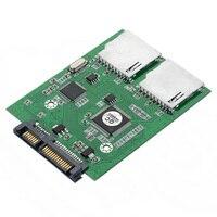 SA176 dual SD card to SATA high speed dual chip dual SATA to SD hard disk transfer card SD to the serial port
