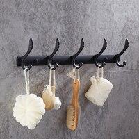 American Black Kitchen Drain Hook Bathroom Stainless Steel Long Coat Hook Bathroom Towel Hook Bathroom Accessories YM024