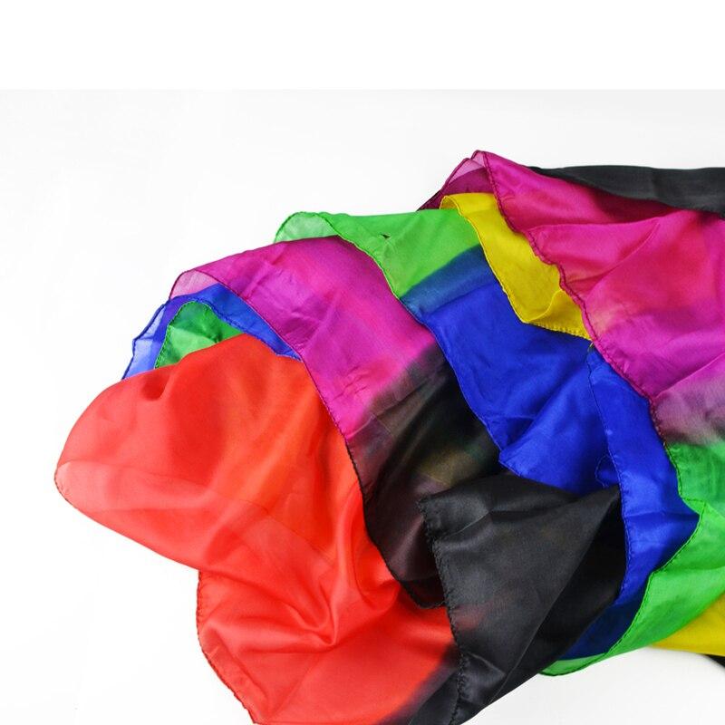 Arc-en-ciel soie Streamer 45 CM * 1000 CM soie fontaine cascade soie magique Ultra-mince soie foulard accessoires magiques magia Fun Illusion