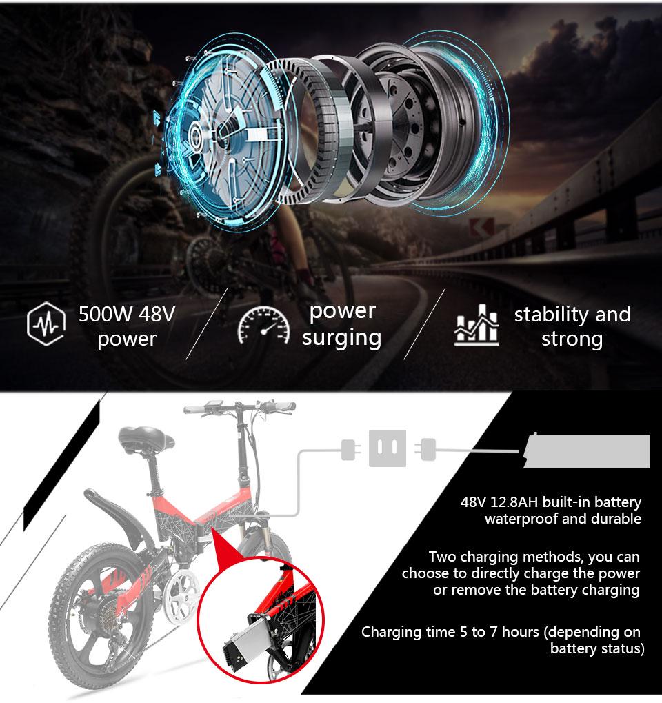HTB1bi8NayzxK1RkSnaVq6xn9VXa2 - Cyrusher G650 Upgraded model electrical bike three knife wheel 48V 12.8AH 52 part 2600MAH li Electrical bicycle with sensible odometer