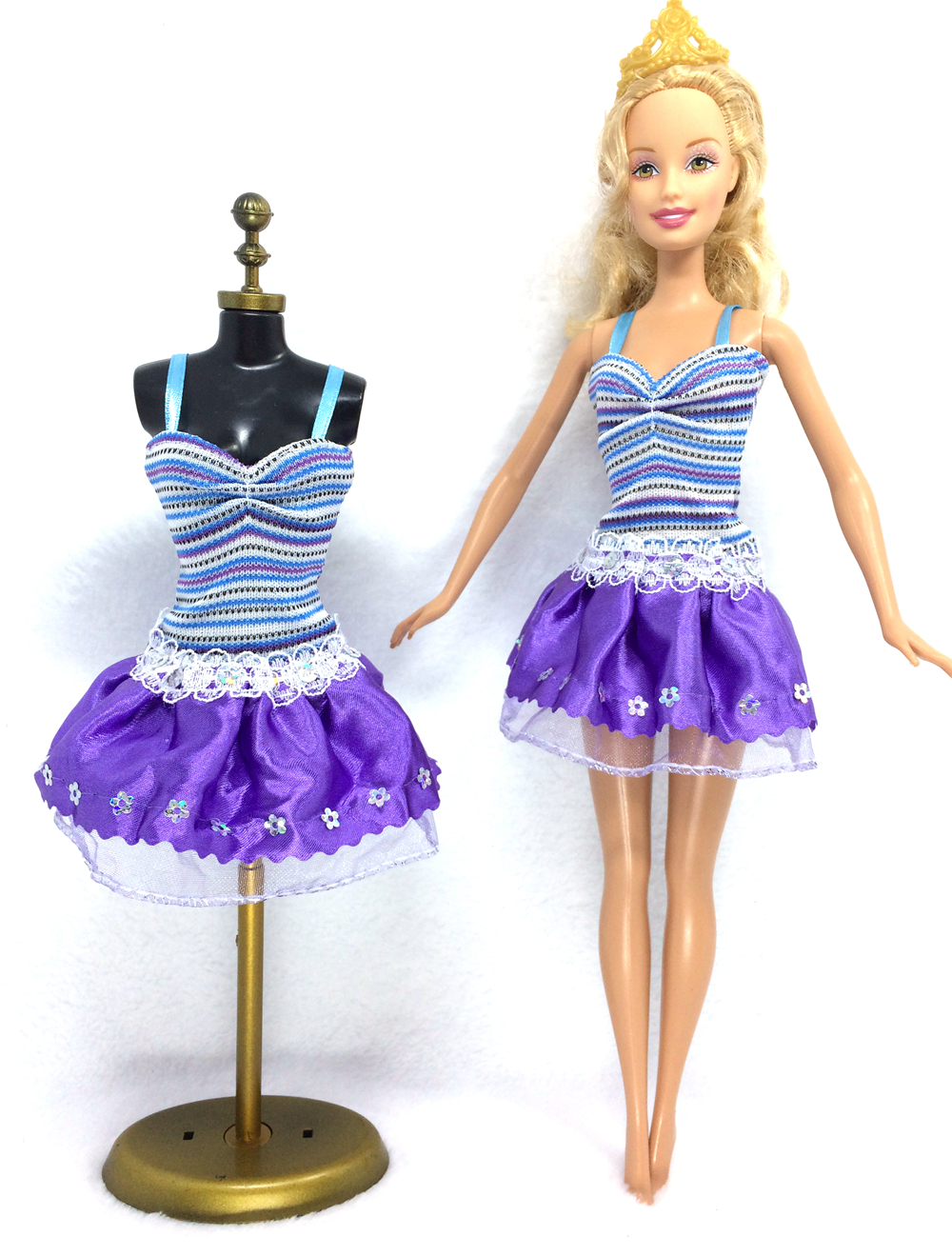 NK 2018 Newest Doll Dress Beautiful Handmade Party ClothesTop Fashion Dress For Barbie Noble Doll Best Child GirlsGift 031A