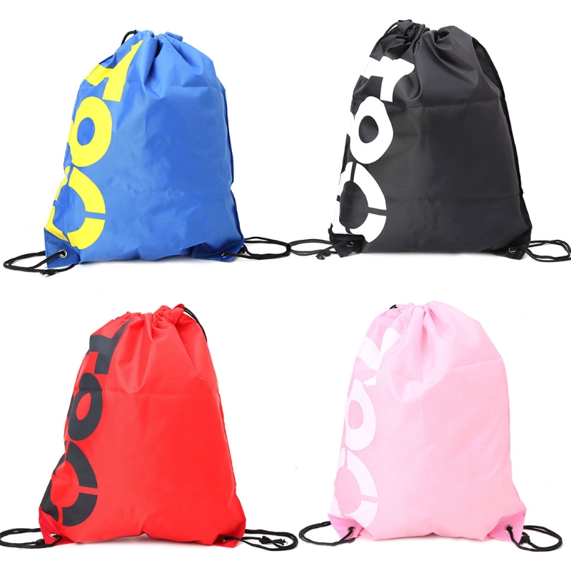 THINKTHENDO Fashion New Backpack Shopping Drawstring Bags Waterproof Travel Beach Shoes Pack