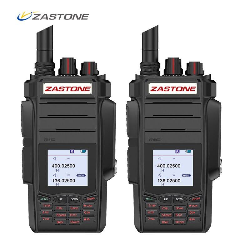 (2 pcs) zastone A19 10 w Radio 5 km Talkie Walkie 136-174/400-480 mhz Double Bandes VHF/UHF two Way Radio FM Ham Radio Zastone telsiz