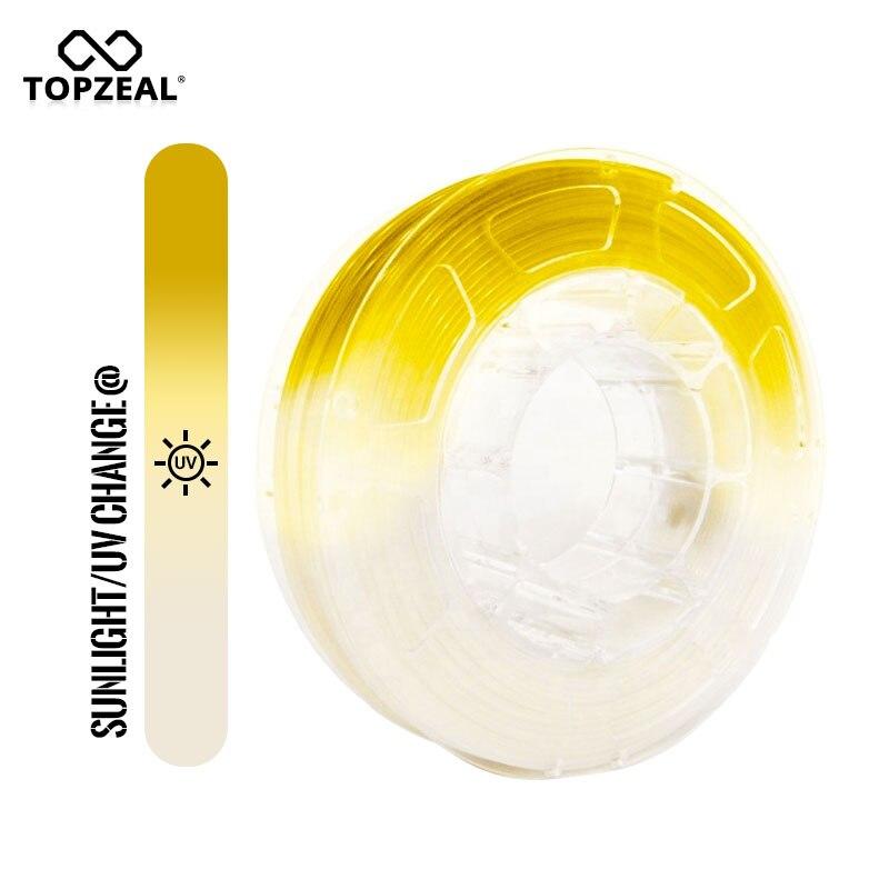 TOPZEAL 3D imprimante PLA Filament lumière changement de couleur, 1.75mm 1 KG blanc à jaune, précision dimensionnelle +/ 0.05mm-in Matériaux d'impression 3D from Ordinateur et bureautique on AliExpress - 11.11_Double 11_Singles' Day 1