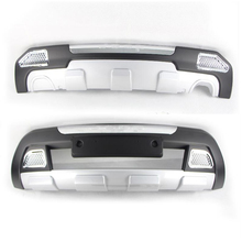 Подходит для Jeep Compass 2011-2013 передний+ задний бампер диффузор бамперы для губ защитная накладка ABS хромированная отделка