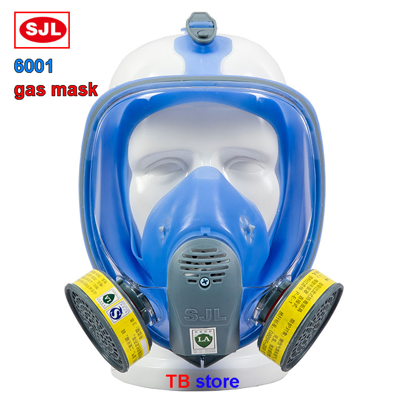 Breathing full mask high quality Silica gel Anti-fog High definition respirator mask Can cooperate Multi-type filter gas mask high quality respirator gas mask provide silica gel gray protective mask paint pesticides industrial safety mask