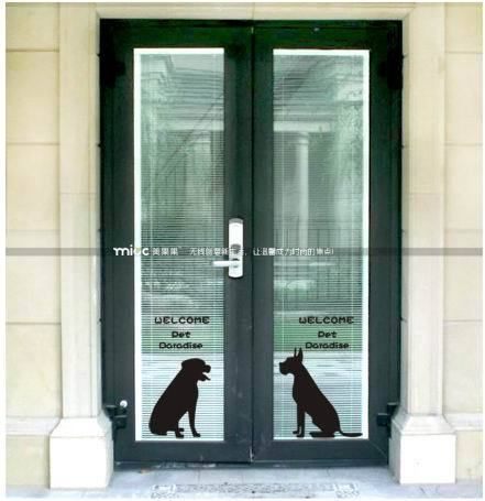 Free Shipping Pet Glass Sliding Door Pet Beauty Decoration Pet Shop