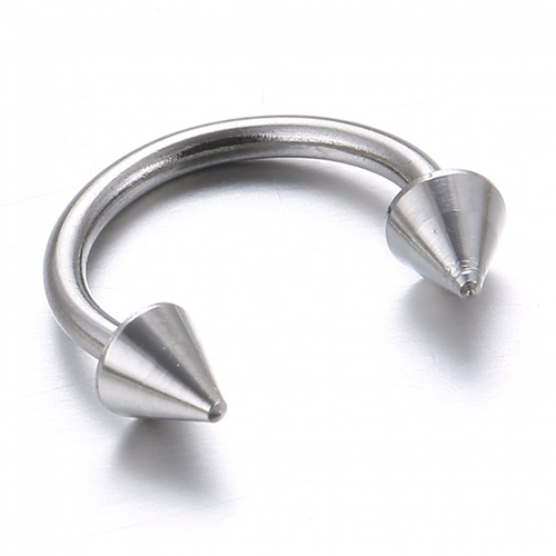 10 Pcs/Pack Steel Horseshoe Lip Nose Septum Ear Ring Body Piercing Jewelry