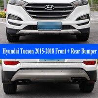 Jioyng для Hyundai Tucson 2015 2018 спереди + задний бампер диффузор Бамперы для автомобиля губ протектор гвардии опорная плита из нержавеющей стали 2 шт.