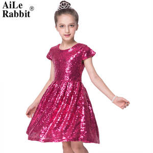 807cd77ff AiLe Rabbit 2018 Girls Party Dress Princess Clothing Red