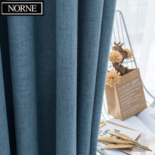 NORNE Shading Rate 95-100% Blackout Curtain Foam Back Thermal Insulated Drapes Soundproof Blinds for Bedroom Living Room Curtain norne hollow star thermal insulated blackout curtains for living room bedroom window curtain blinds stitched with white voile