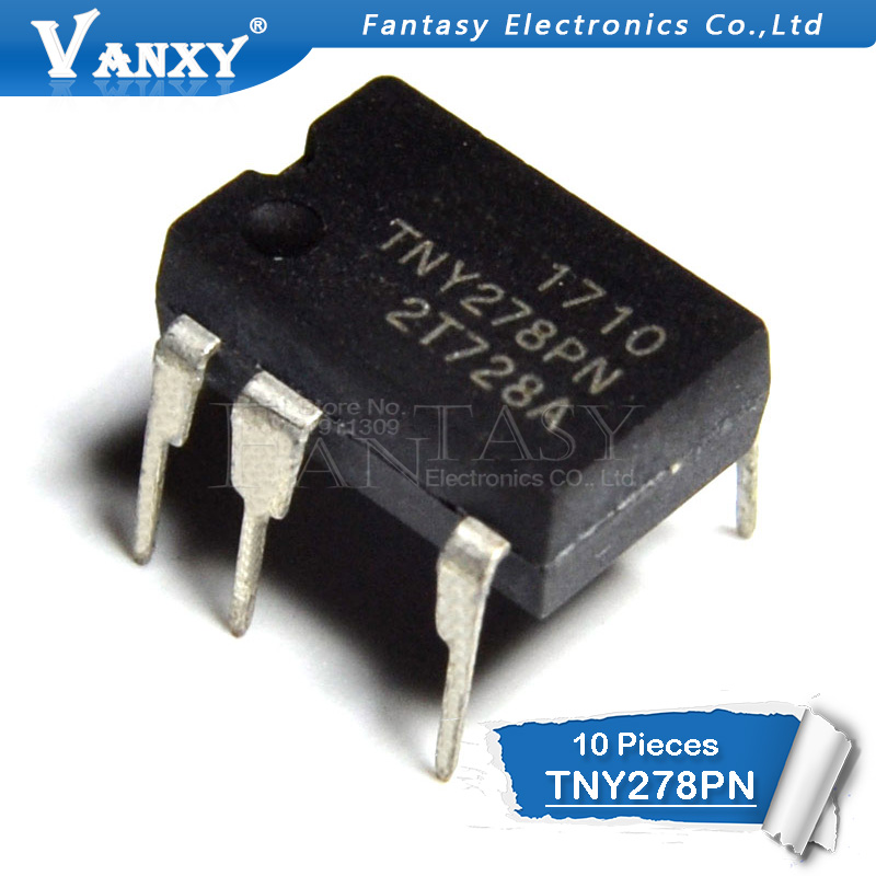 10PCS TNY278PN DIP7 TNY278P DIP TNY278 DIP-7 278PN New And Original IC