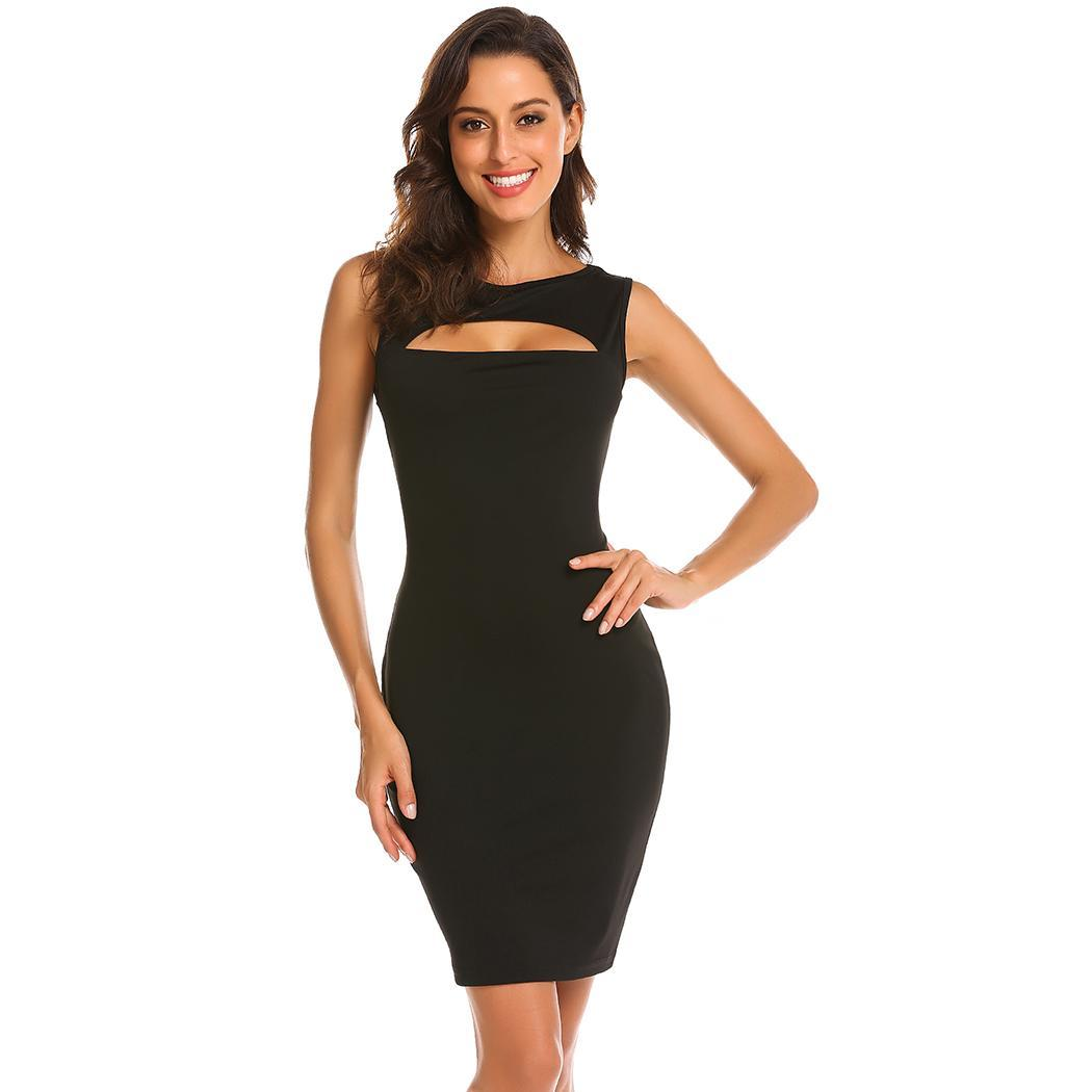 AL'OFA Women's Sexy Bodycon Party   Dress     Cocktail     Dresses   Sleeveless Hollow Out Slim Clubwear Homecoming   Dresses   Party Gown