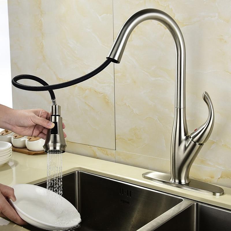 Tout cuivre tréfilage fumé retirer type robinet de cuisine nourriture froid et chaud dissipateur de chaleur robinet évolutif bibcock du bassin