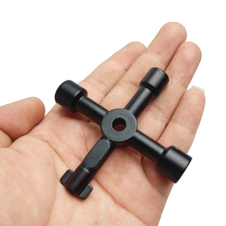 Многофункциональный ключ с треугольным крестом, ключ для счетчика воды, ключ с квадратным отверстием, электрический ключ для шкафа